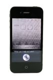 Apple iPhone 4s Siri. Isolated in white background Stock Images