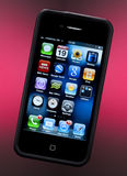 Apple iPhone 4S - Smartphone. Apps (applications) on an Apple iPhone 4S 'Smartphone Stock Images