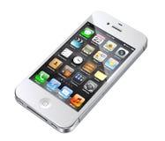 Apple iphone 4S Weiß Lizenzfreie Stockbilder