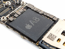 Free Apple IPhone 6 CPU IC Chip Royalty Free Stock Image - 91067946