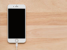 Apple iPhone6 Charging with Lightning USB Cable stock image