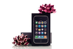 Apple iPhone Christmas Gift Stock Photo