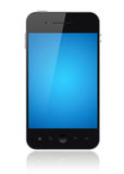 Apple Iphone Illustration Isolated. Modern smartphone with blue screen isolated on white. Include clipping path for phone and screen Royalty Free Stock Images
