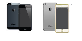 APPLE IPHONE 5 AND IPHONE 6 PLUS ANDROID VECTORS Royalty Free Stock Image