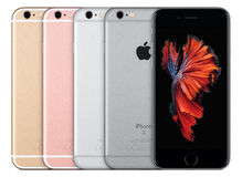 Apple iPhone 6s all colors Silver Space Gray Gold and Rose Gold Stock Photo