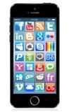 Apple-iphone 5s Schwarzes stock abbildung