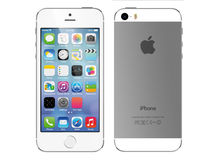 Apple iphone 5s. White (front & back Stock Illustration