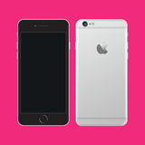 Apple iphone 6. Vector Illustration of the new Apple iPhone 6  left intentionally blank for use as a template.Apple iPhone 6 Royalty Free Stock Photography