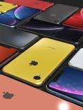 Apple-iPhone XR alle Farben, Mosaikanordnung, ursprüngliche Tapete