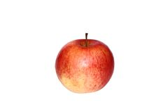Apple isolate. Red-yellow colored apple on a white royalty free stock photography