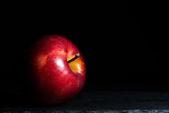 Apple. Isolated with black background Royalty Free Stock Image