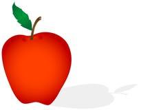 Apple Isolated Illustration Royalty Free Stock Photos