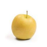 Apple isolou-se em um branco, dourado - delicioso Fotografia de Stock Royalty Free