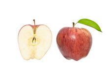 Apple and its cross-section Stock Photography