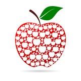 Apple Jabłczana czerwień Zdjęcia Royalty Free