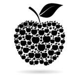 Apple Jabłczany czerń royalty ilustracja