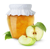 Apple jam. Over white background Royalty Free Stock Images