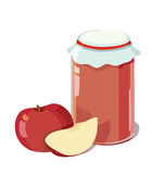 Apple jam. In a jar. vector illustration Stock Photo