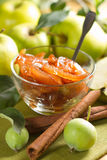 Apple jam with cinnamon Royalty Free Stock Photos