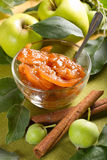 Apple jam with cinnamon Royalty Free Stock Images