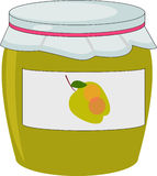 Apple-jam in jampot Stock Fotografie