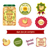 Apple Jam Jar And Labels Royalty Free Stock Photography