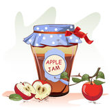 Apple jam jar Stock Image