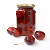 Apple jam with mini apples Royalty Free Stock Image