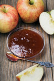 Apple jam in a saucer Stock Images