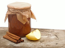 Apple jam with spices Royalty Free Stock Image