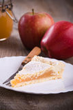 Apple jam tart. Stock Photos