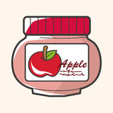 Apple jam theme elements vector,eps Stock Photography