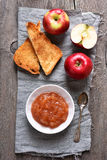 Apple jam, top view Royalty Free Stock Photo
