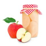 Apple jar Royalty Free Stock Images