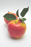 Apple jaune et rouge Photographie stock libre de droits