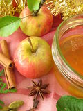Apple jelly with christmassy spices Royalty Free Stock Image
