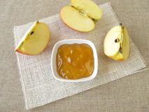 Apple jelly Stock Image