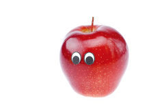 Apple joy with a face Stock Photo