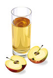 Apple juice. Apple fruit juice,  illustration Royalty Free Stock Image