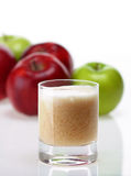 Apple juice. Fresh apple juice in glass Royalty Free Stock Photography