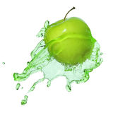 Apple in juice Stock Images
