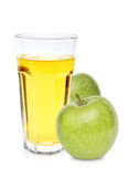 Apple with juice Royalty Free Stock Images