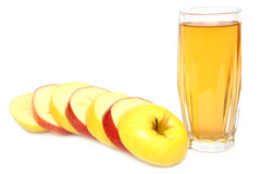 Apple Juice And Fresh Apples Stock Photos