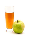 Apple juice and apple Royalty Free Stock Image