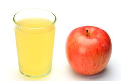 Apple juice and apple stock images