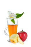 Apple juice and Apple Royalty Free Stock Photo