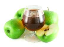 Apple juice with apples Stock Photography
