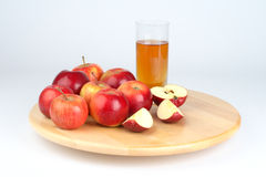 Apple juice and apples Royalty Free Stock Photo