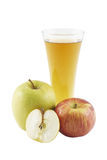 The apple juice and apples. Royalty Free Stock Photo