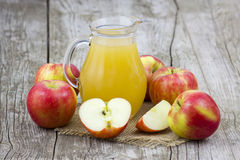 Apple juice and apples Stock Photo